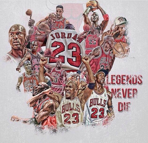 Legends Never Die Michael Jordan Poster Chicago Bulls