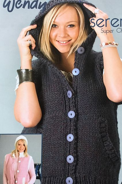 Ravelry: Gilet with optional hood 5579 pattern by Wendy Yarns