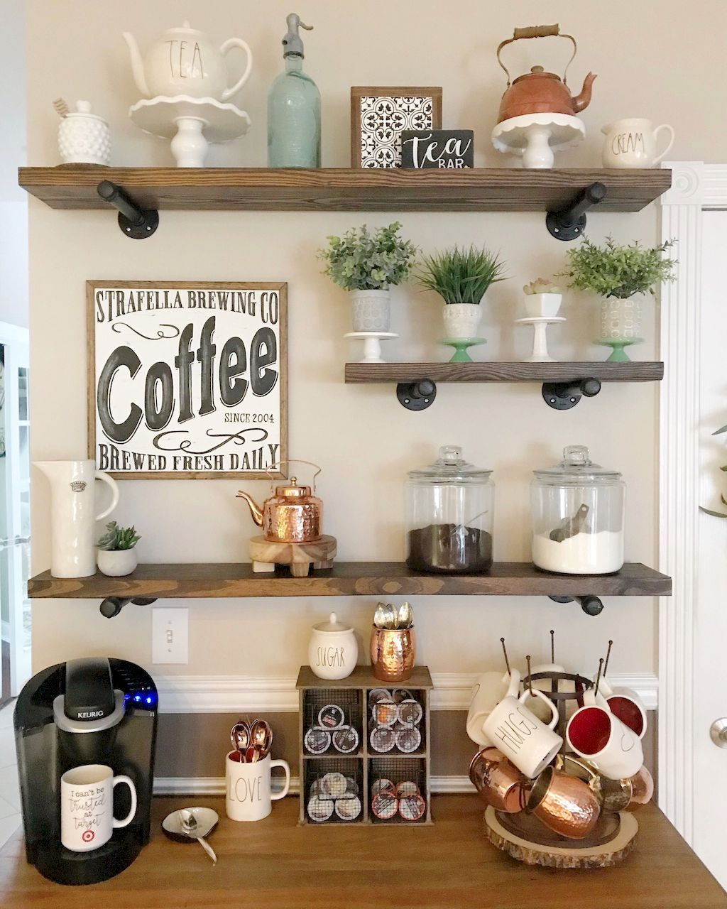 Simple Coffee Kitchen Decor Home To Z Diy Coffee Bar Coffee Bar Design Coffee Bar Home