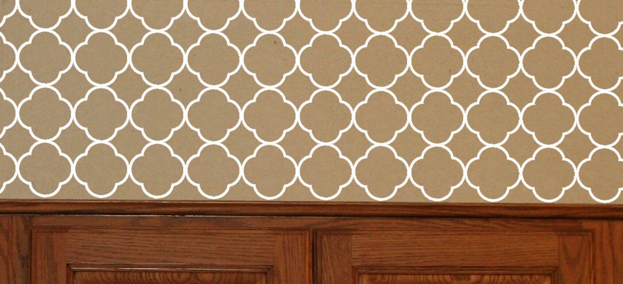 Quatrefoil Pattern Vinyl Wall Decal Sticker Shapes For Wall Decor