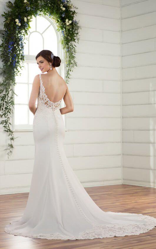 Off-the-Shoulder Lace Wedding Dress | Backless wedding, Australia ...