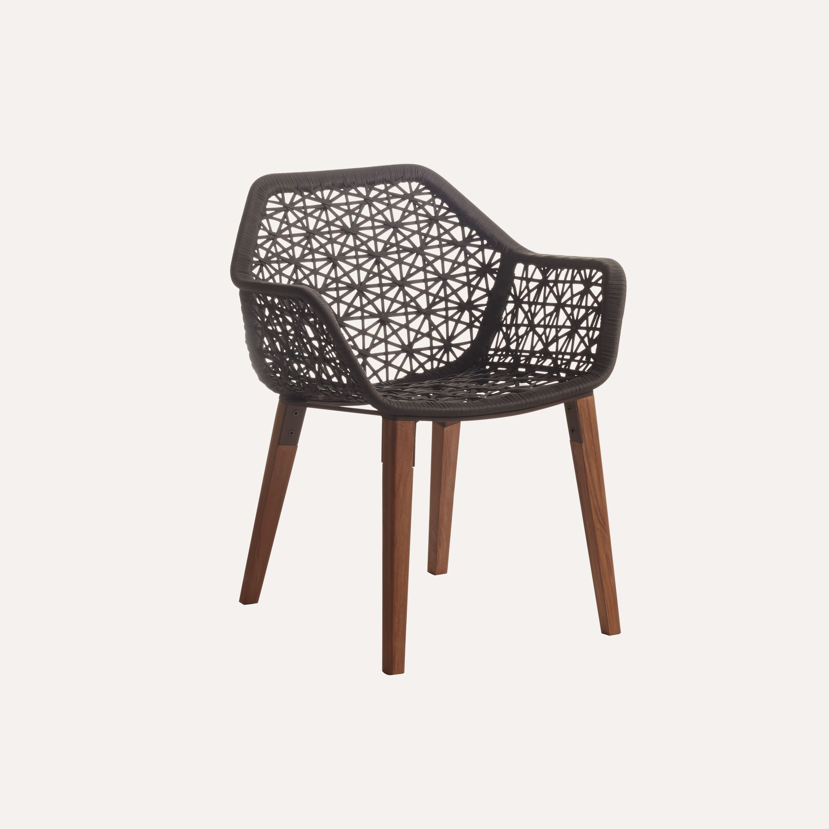 Maybe a few of these chairs for accents kettal maia dining armchair maia rope