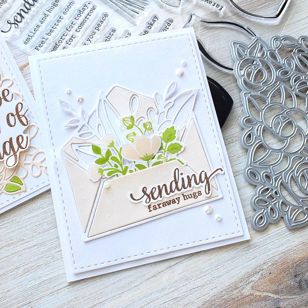 leafy envelope die  scrapbook paper crafts beautiful