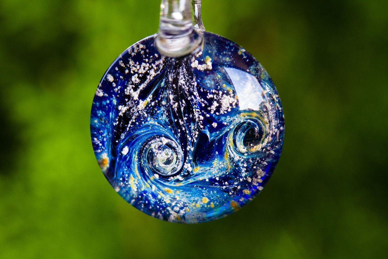 Night Swirl Pendant by Filip 60.00 Memorial jewelry