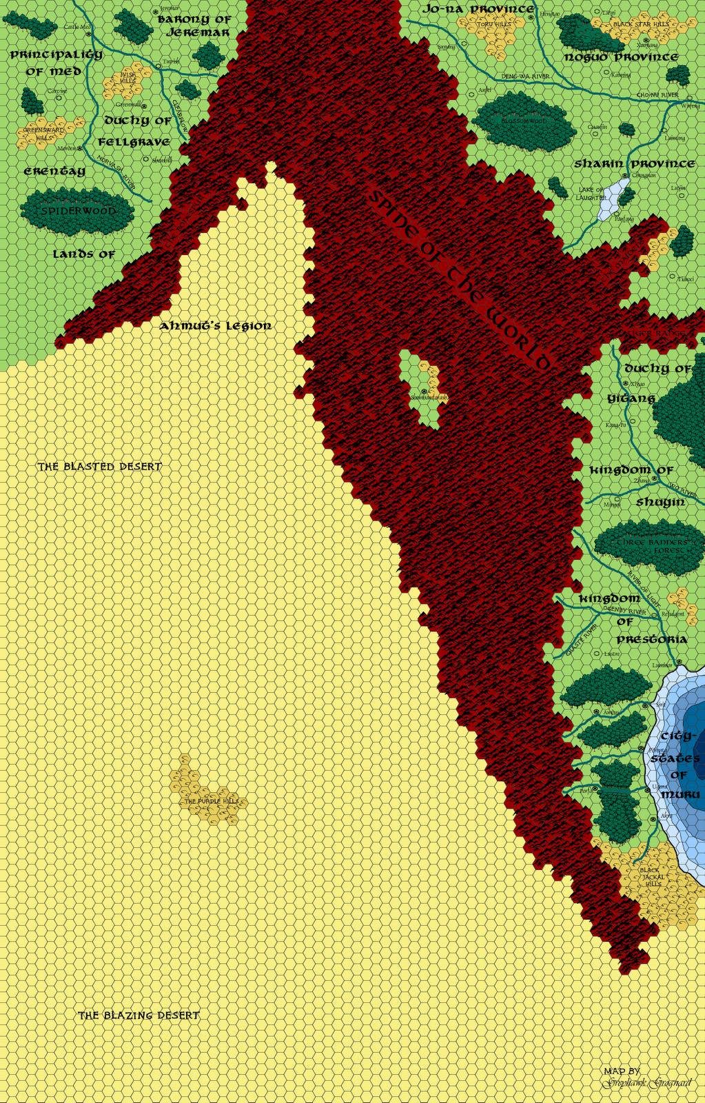 Elegant Greyhawk Grognard: Mapping Beyond The Flanaess: Ahmutu0027s Legion And The  Blasted Desert