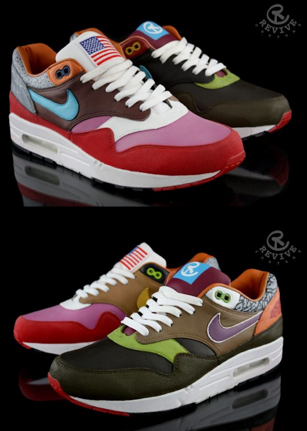 NIKE AIR MAX 1  WHAT THE AM ONE  BY REVIVE CUSTOMS - Revive Customs ... f7a57d8551e