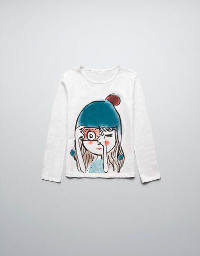 370e8bbb2f DOLL DESIGN T-SHIRT - T-shirts - Girl (2-14 years) - Kids - ZARA United  States