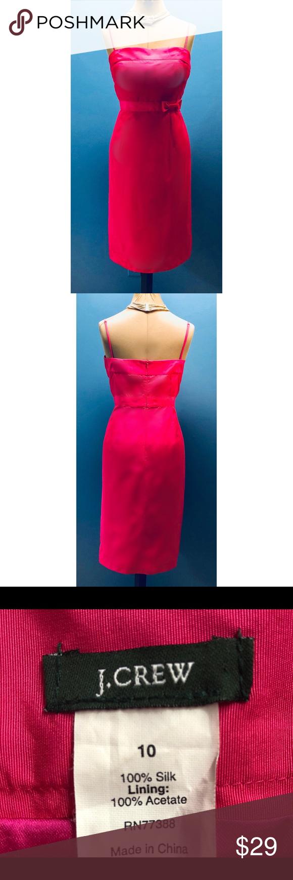 J crew silk fuchsia semi formal dress my posh closet pinterest