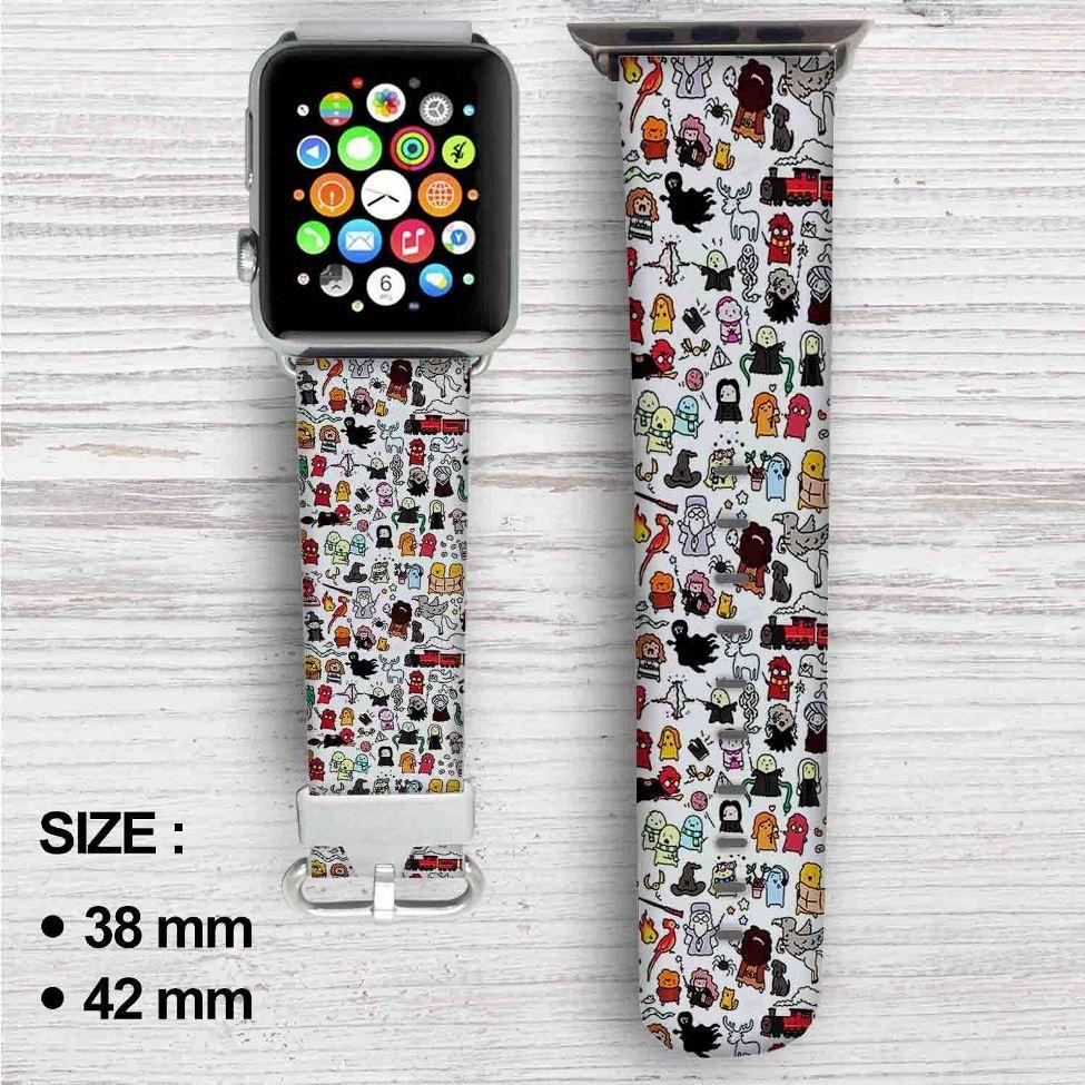Chibi harry potter doodle custom apple watch band leather