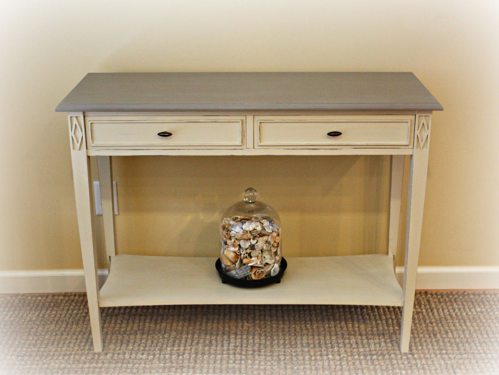 Modern sofa table transformed with chalk paint sofa tables modern sofa table transformed with chalk paint geotapseo Image collections