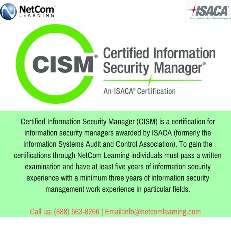 Earn The CISM(ISACA) Certification With CISM Training