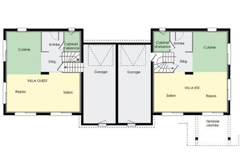 plan maison jumelee gratuit Projet habitation jumelée Pinterest