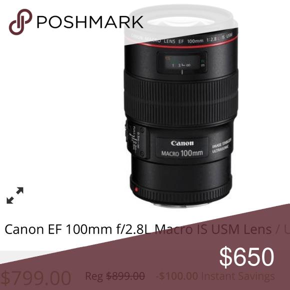 Euc Canon 100mm 2 8l Macro Lens Ef Mount Lens Full Frame Format Aperture Range F 2 8 To F 32 One Ultra Low Dispersion Element Super Spec Macro Lens Macro Lens