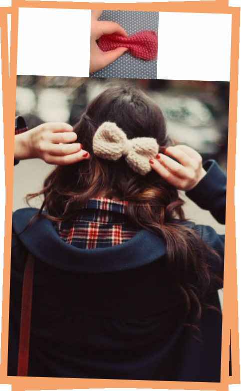 Photo of Seed Stitch Knitted Bow
