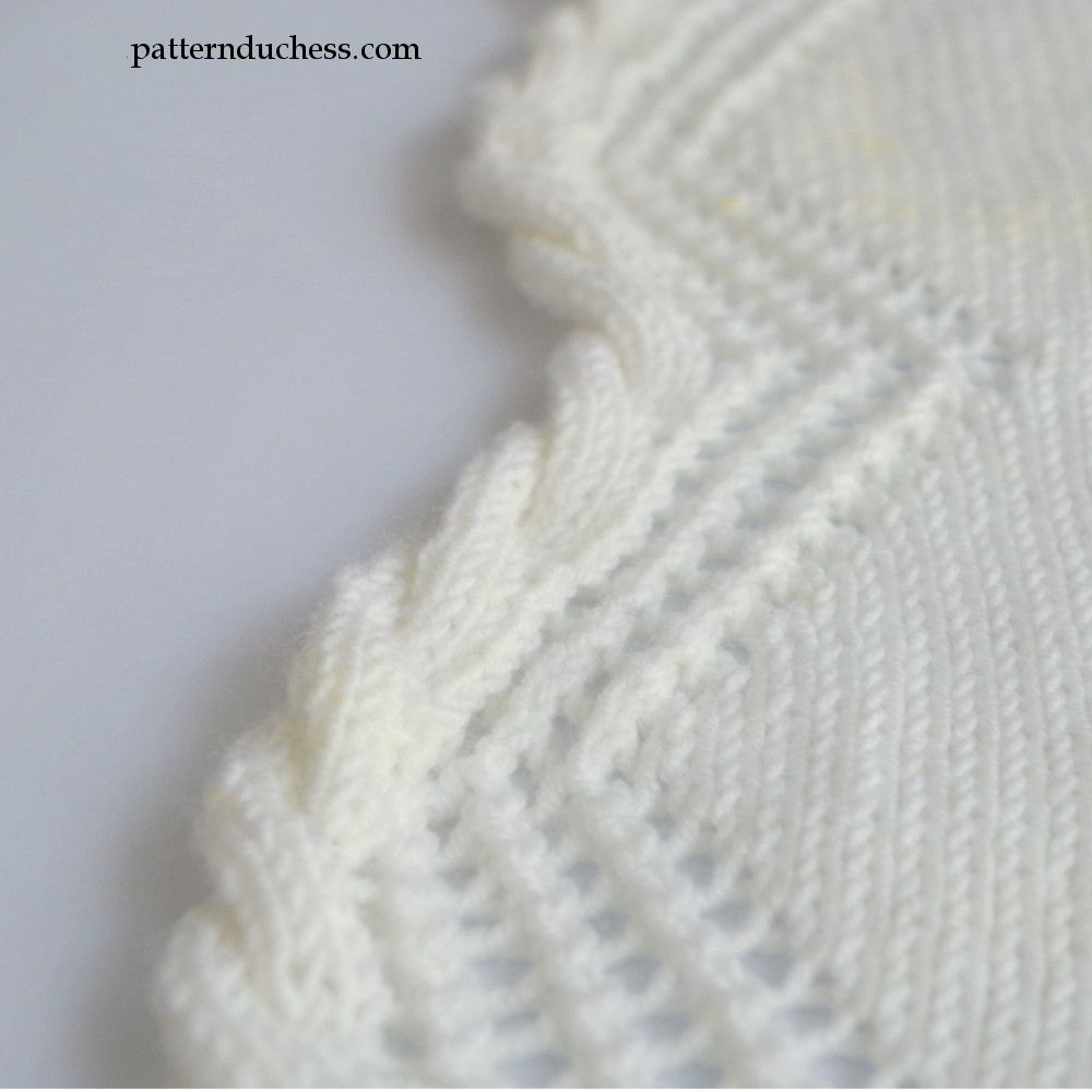 Knit Cable Edging With Twisted Trim And Lace | Punto. Tutoriales ...