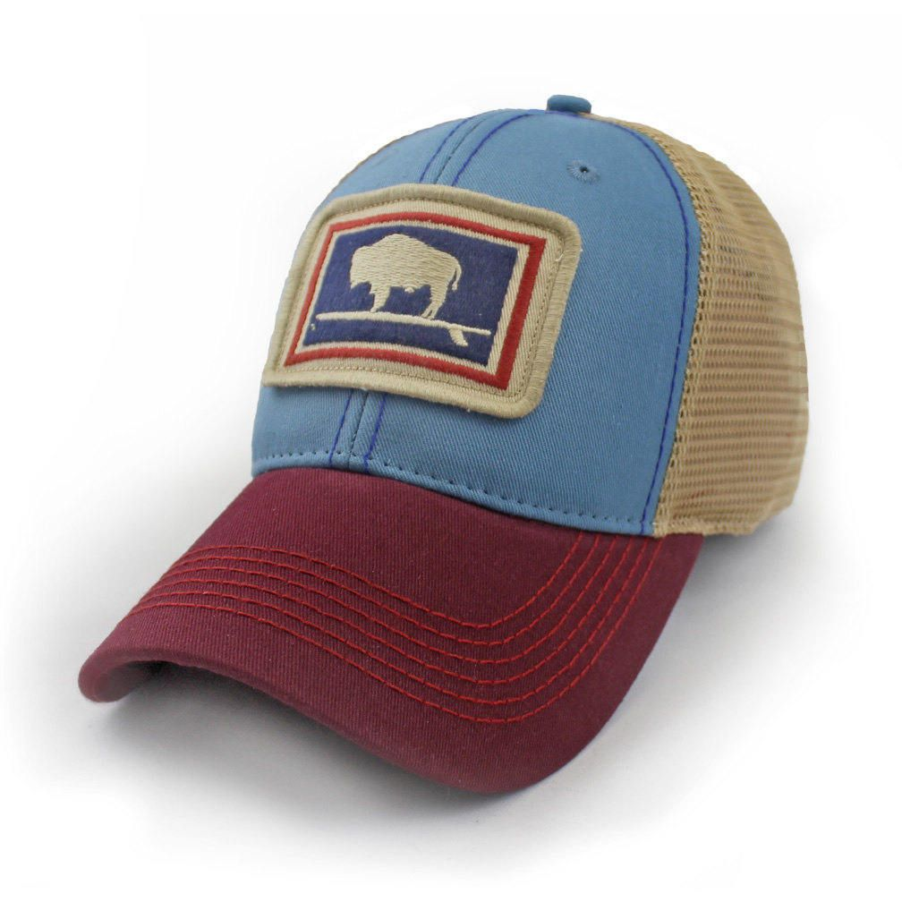 2e1d1c2cc Everyday Trucker Hat, Structured, Surfing Wyoming Buffalo, Port and ...