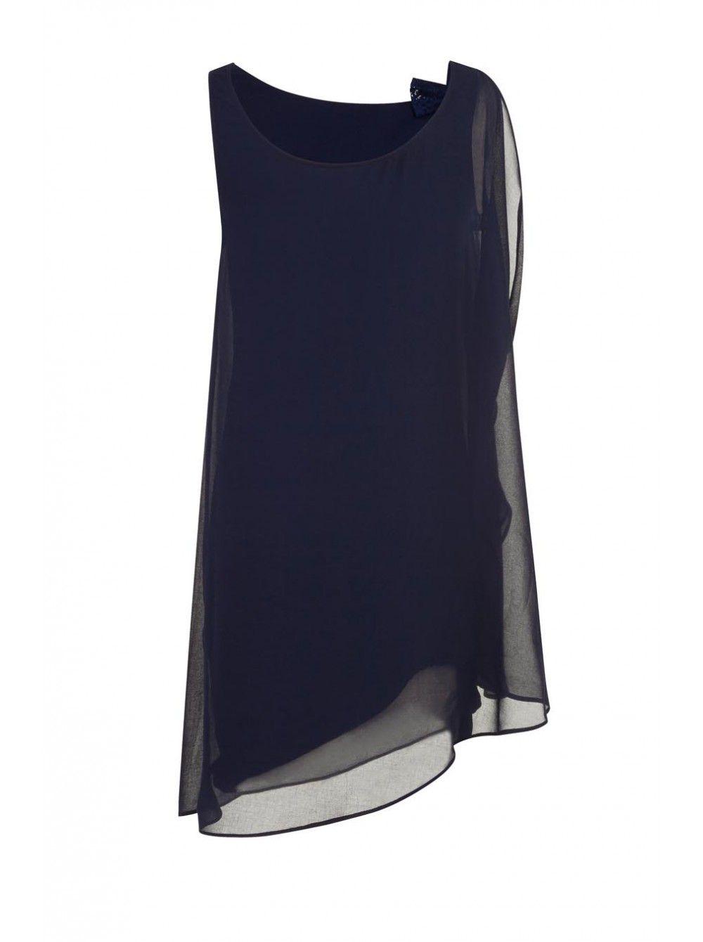 Robe fluide bleu marine naf naf