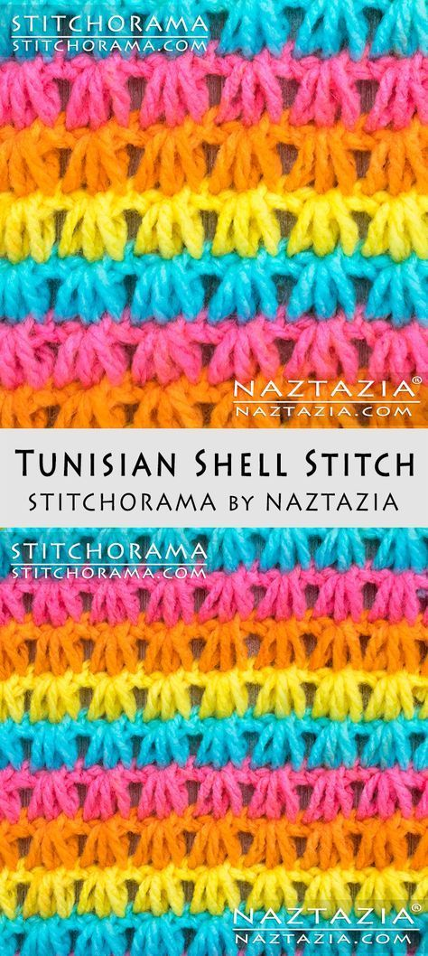 Crochet Tunisian Shell Stitch Free Pattern And Diy Tutorial Youtube