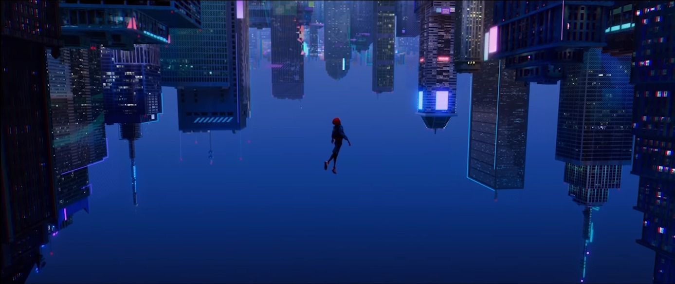 A Rewarding Leap Of Faith In Spider Man Into The Spider Verse In 2020 Desktop Wallpaper Art Computer Wallpaper Desktop Wallpapers Marvel Wallpaper