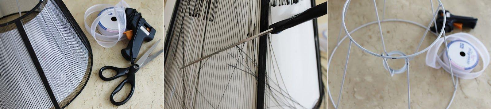 DIY: Cúpula de abajur revestida com fita