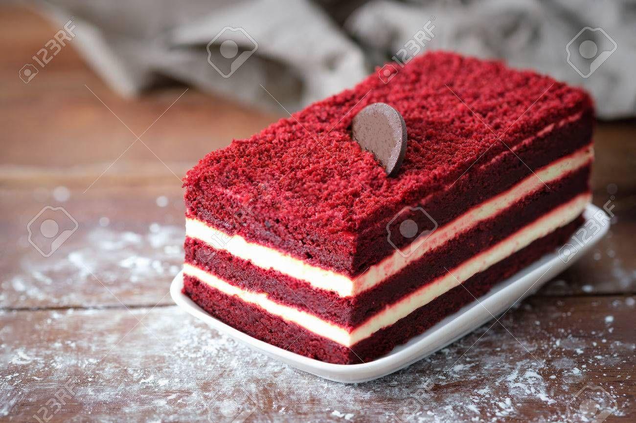 Stock Photo Velvet Cake Cake With Cream Cheese Desserts