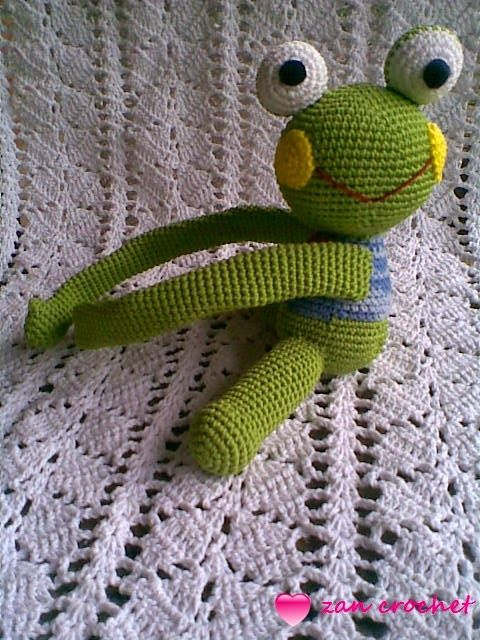 Frog curtain Tie Back ~ Zan Crochet | Abraza cortinas | Pinterest ...