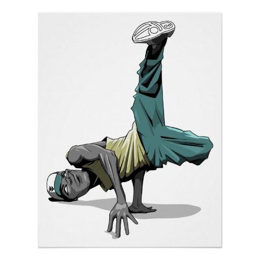 break dance pose poster   Zazzle com   Sold! in 2019   Dance