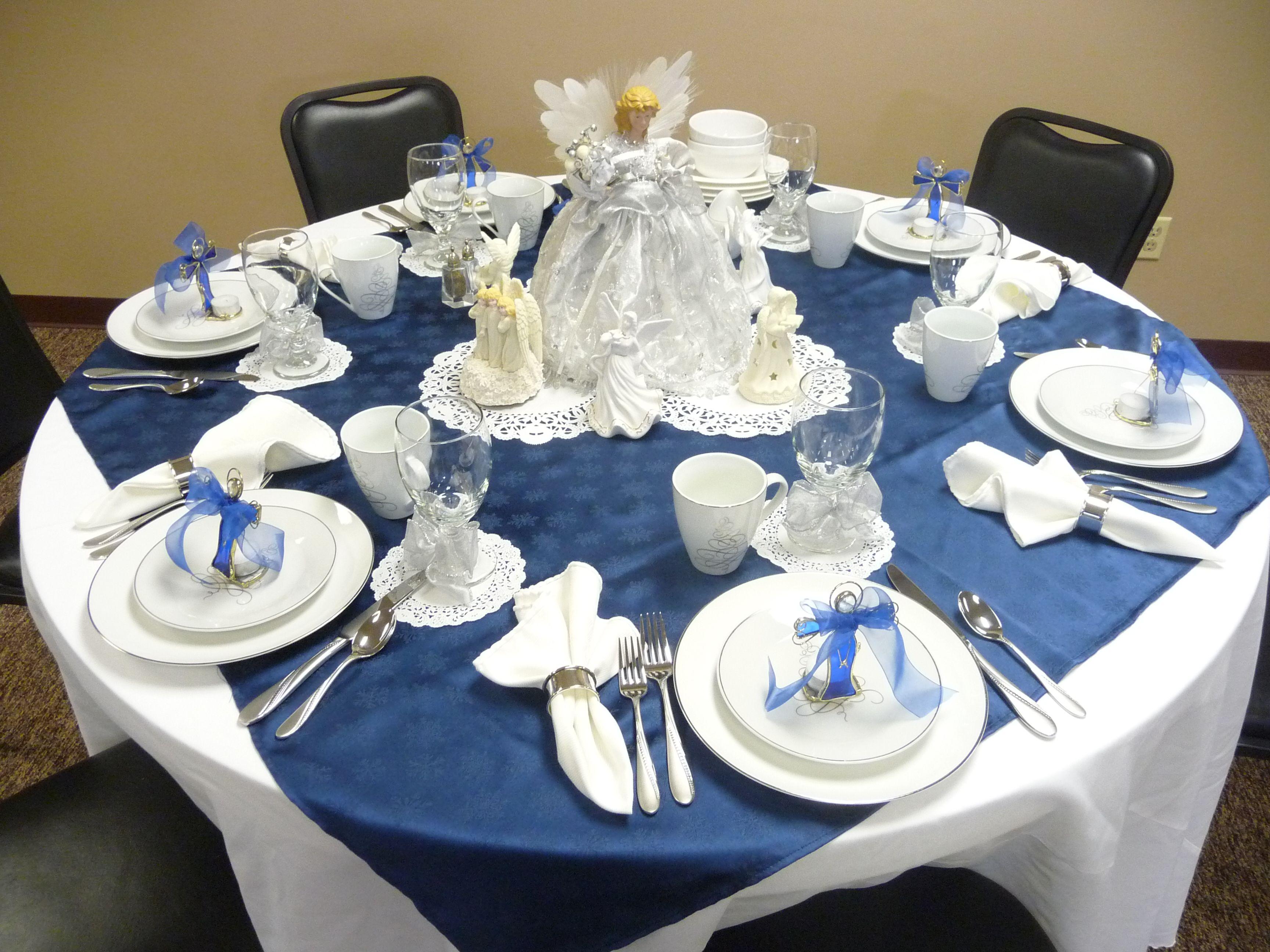 Christmas Decor For Tables At Church Christmas Tea Table