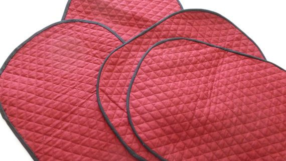 Mauve Placemats with a black edging.  The by DonnaleesTreasures, $10.00