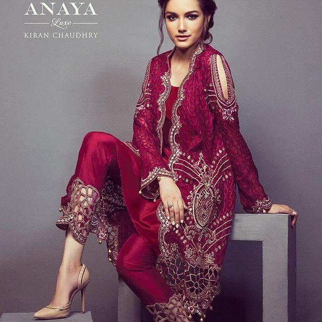 75aef1755c #meeraansari sizzles in this fiery Anaya luxe chiffon outfit! ❤ #anayaluxe  #eidcollection2016 #kiranchaudhry #worthwaitingfor
