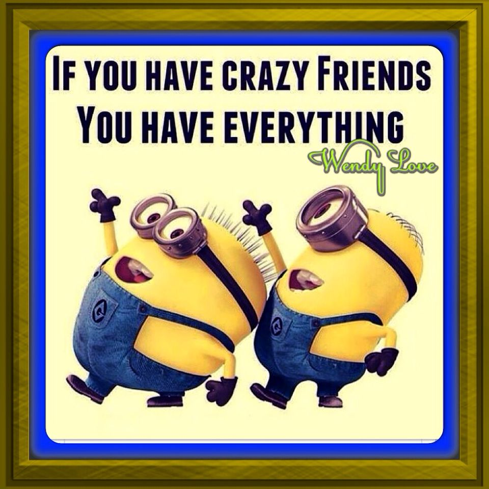 If You Have Crazy Friends You Have Everything So If You Don T Have A Crazy Friends This Summer Watch For My Post You Minions Minions Funny Minions Humor