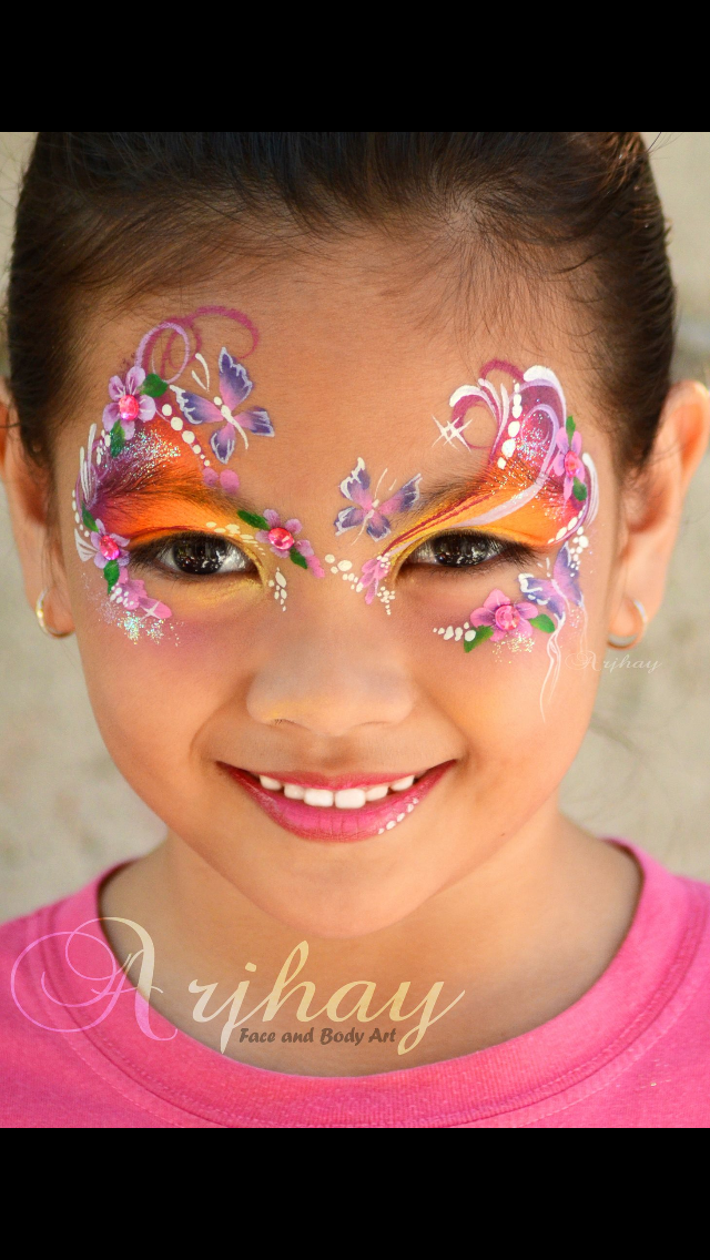 Trolls inspired flowers pinterest face face paintings and diy face paint solutioingenieria Choice Image