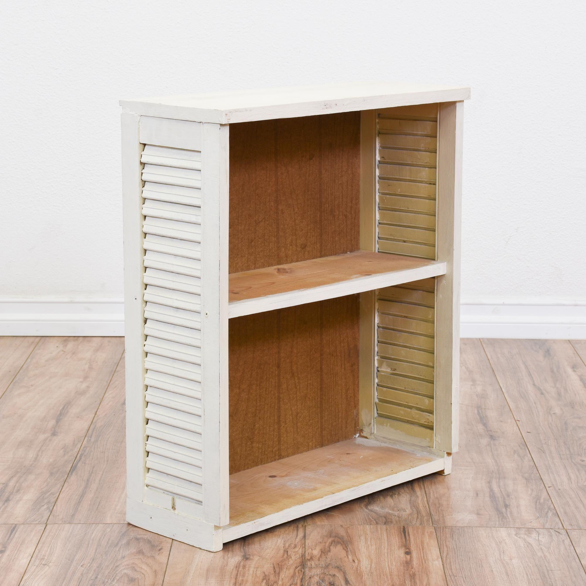 White Shabby Chic Shutter Bookcase | Shelves, Shabby chic bookcase ...