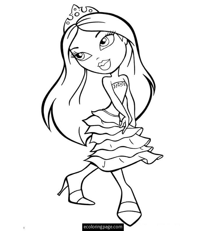 Princess Bratz Coloring Page Find Out Your Favorite Sheets In BRATZ Pages Enjoy With The Colors Of Choice Color This