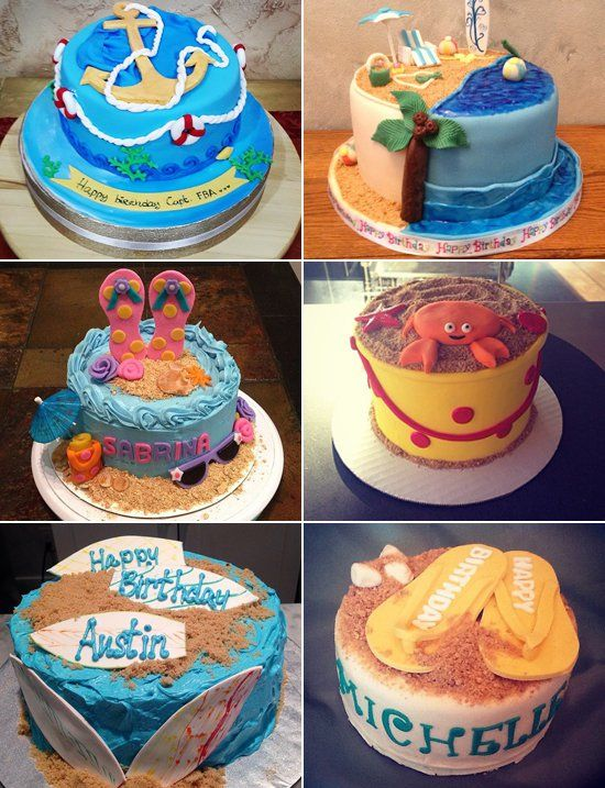 Lifes A Beach 25 Sweet Cakes For Your Summer Baby Summer Baby