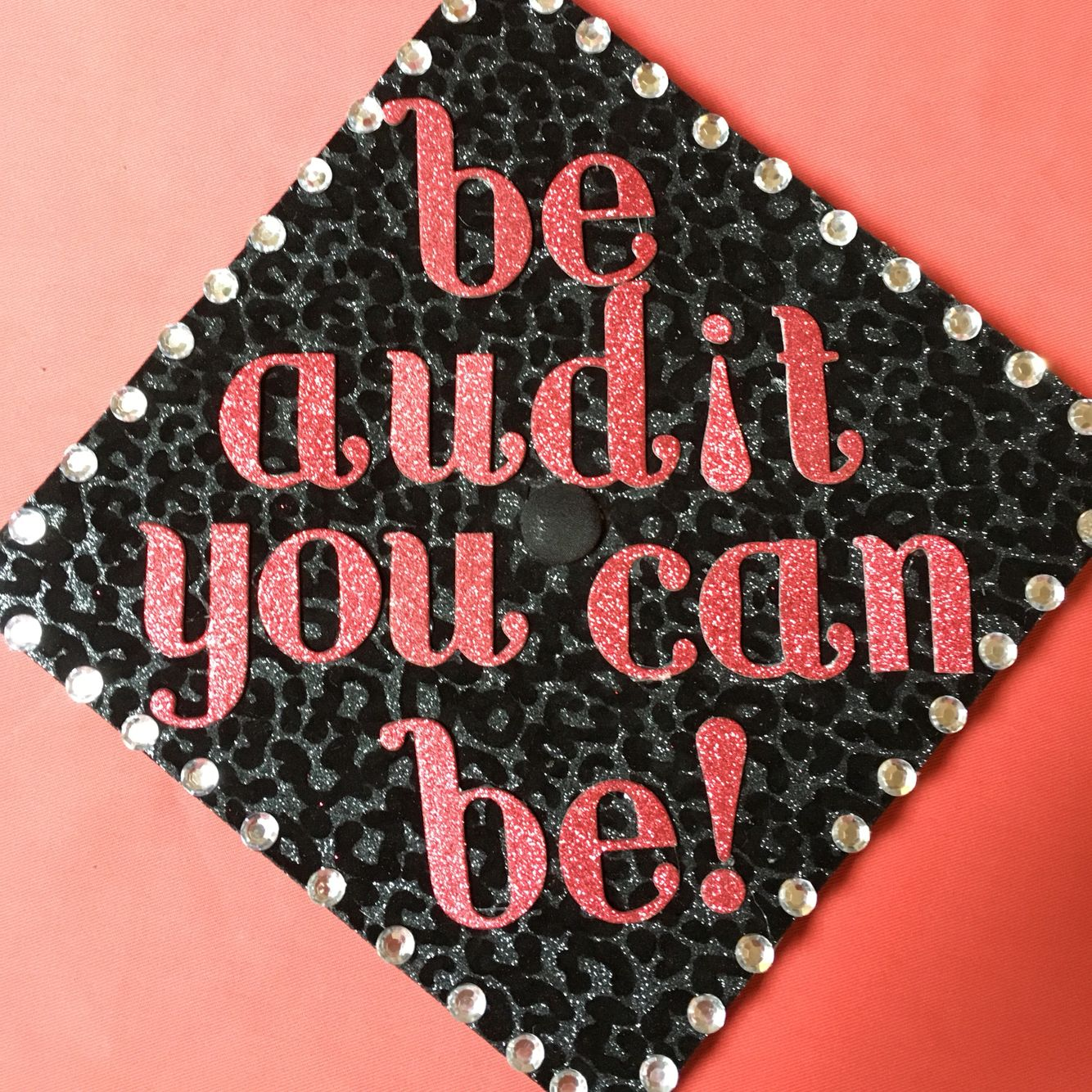 My accounting themed grad cap hats off pinterest for Accounting graduation cap decoration