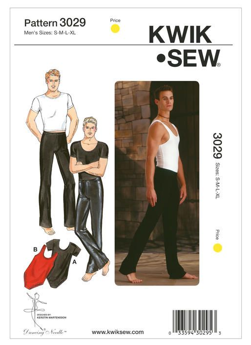 d729ae091e22 K3029 | Men's Dance Wear Sewing Pattern | Kwik Sew Patterns ...
