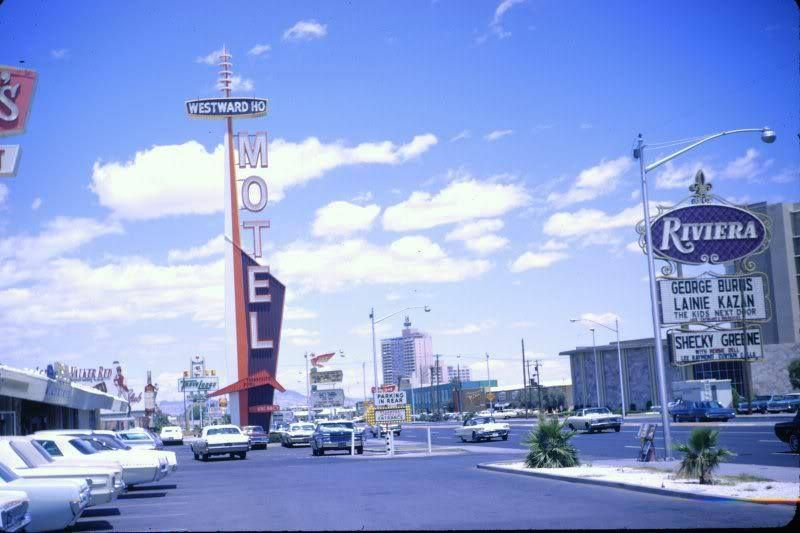 Las Vegas Strip Spring 1967 In Front Of A Denny S Looking North Towards