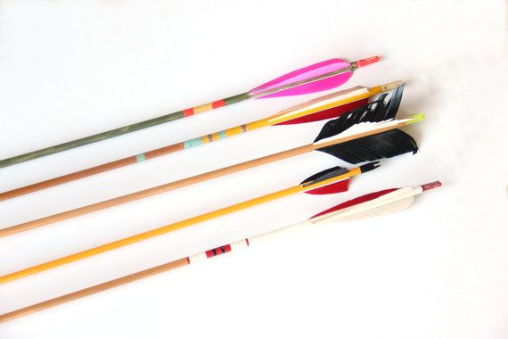 Set of 5 Colorful Vintage Arrows by GallivantingGirls on Etsy