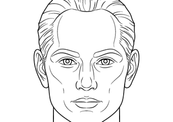 How To Draw A Male Face Step By Step Tutorial Black And White Drawing Drawings Lion Face Drawing