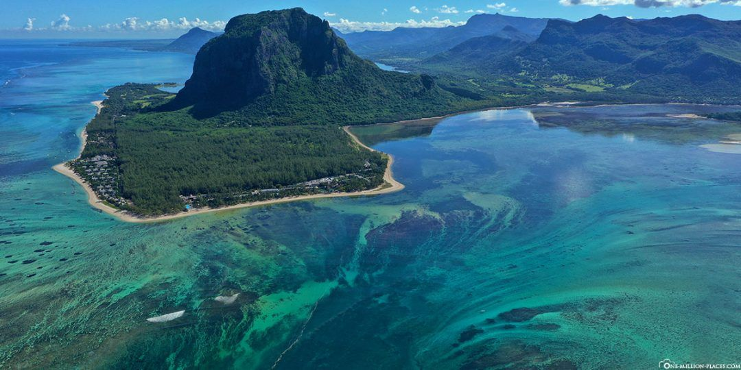Der Unterwasser-Wasserfall vor der Küste von Mauritius (Reisebericht)