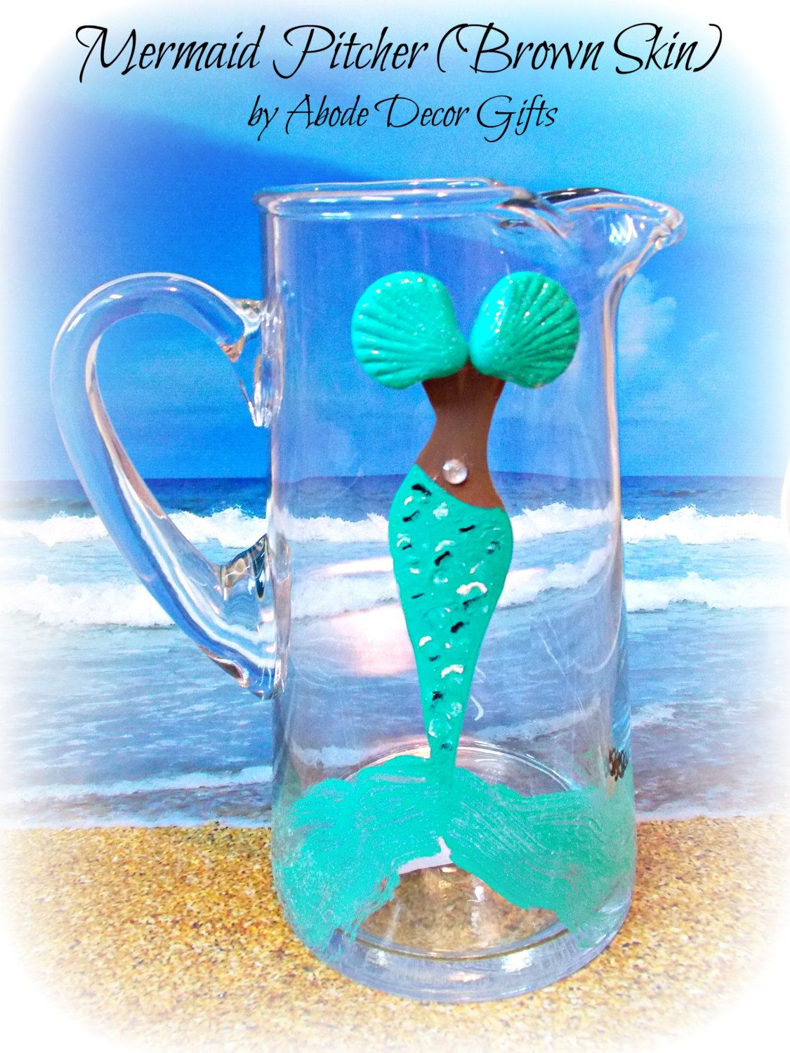 Pitcher, Margarita, Margarita Pitcher, Mermaid Pitcher, Mermaid Gift ...