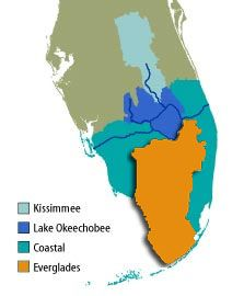 Florida Watershed Map.Map Of The Everglades Watershed Florida To Visit Pinterest