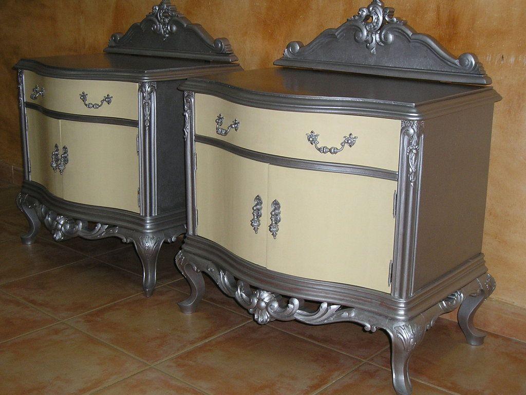 Mueble En Color Plata Plata Mesas Y Color Plata # Muebles Remodelados