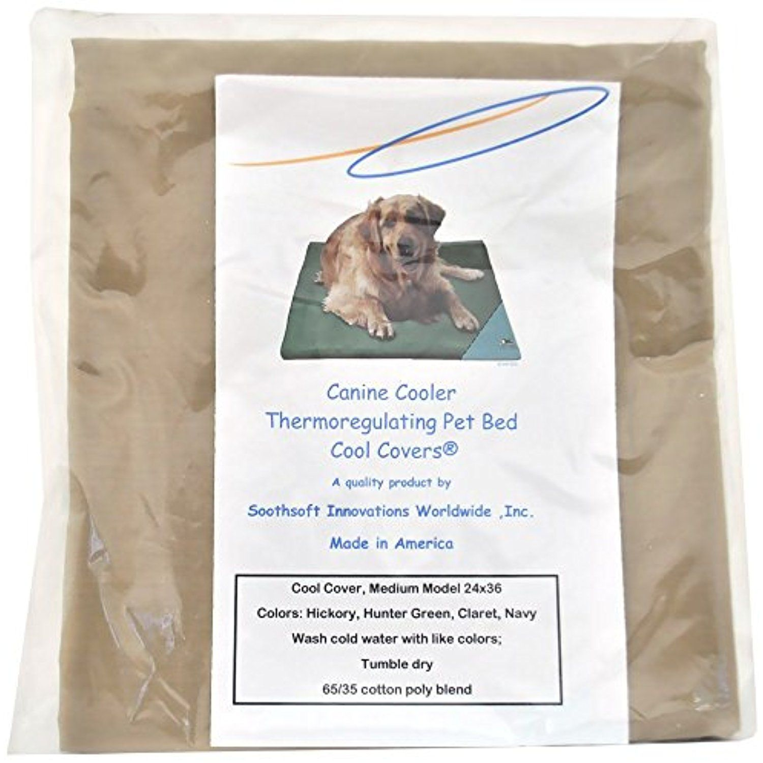 Canine Cooler Bed Cover MEDIUM, Choose a color Hickory