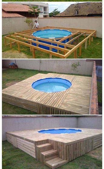 Pin By Umar James Adam On Piletas Small Backyard Pools Diy Pool Backyard Pool