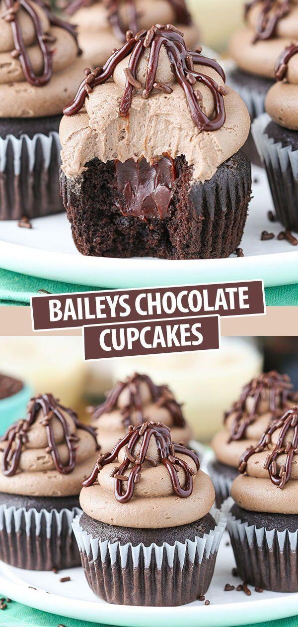 Photo of Fluffy Baileys Chocolate Cupcakes – These Baileys Chocolate Cupcakes will …