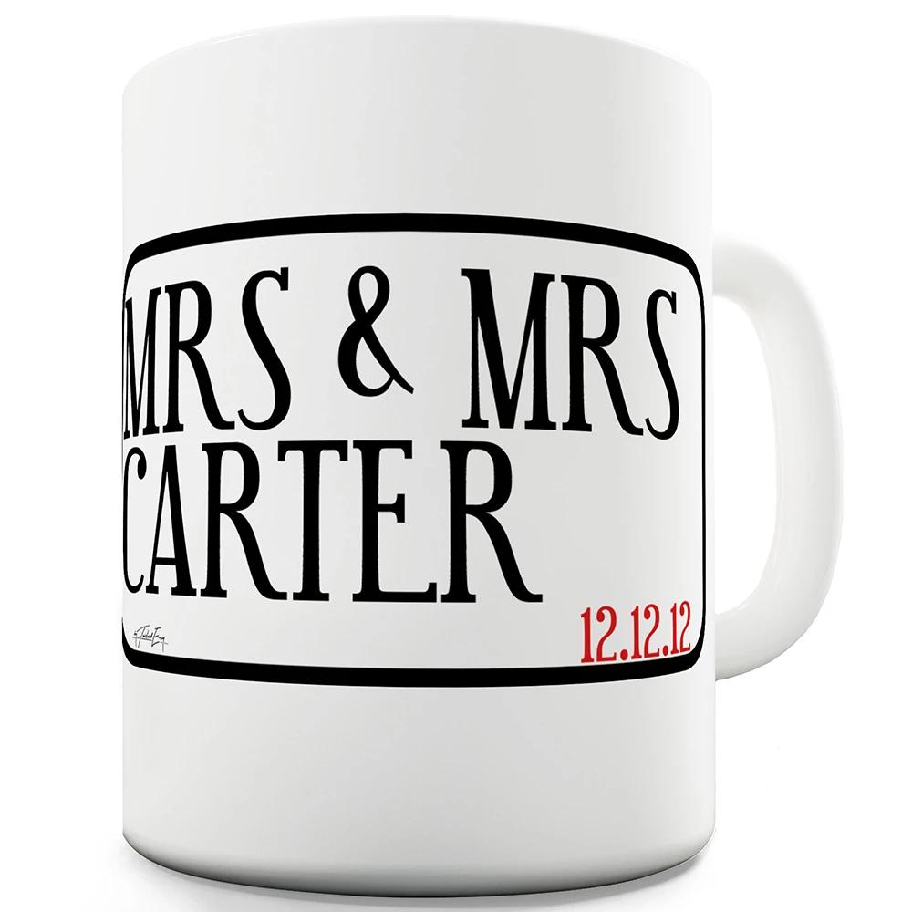 Mrs & Mrs Street Personalised Funny Office Secret Santa