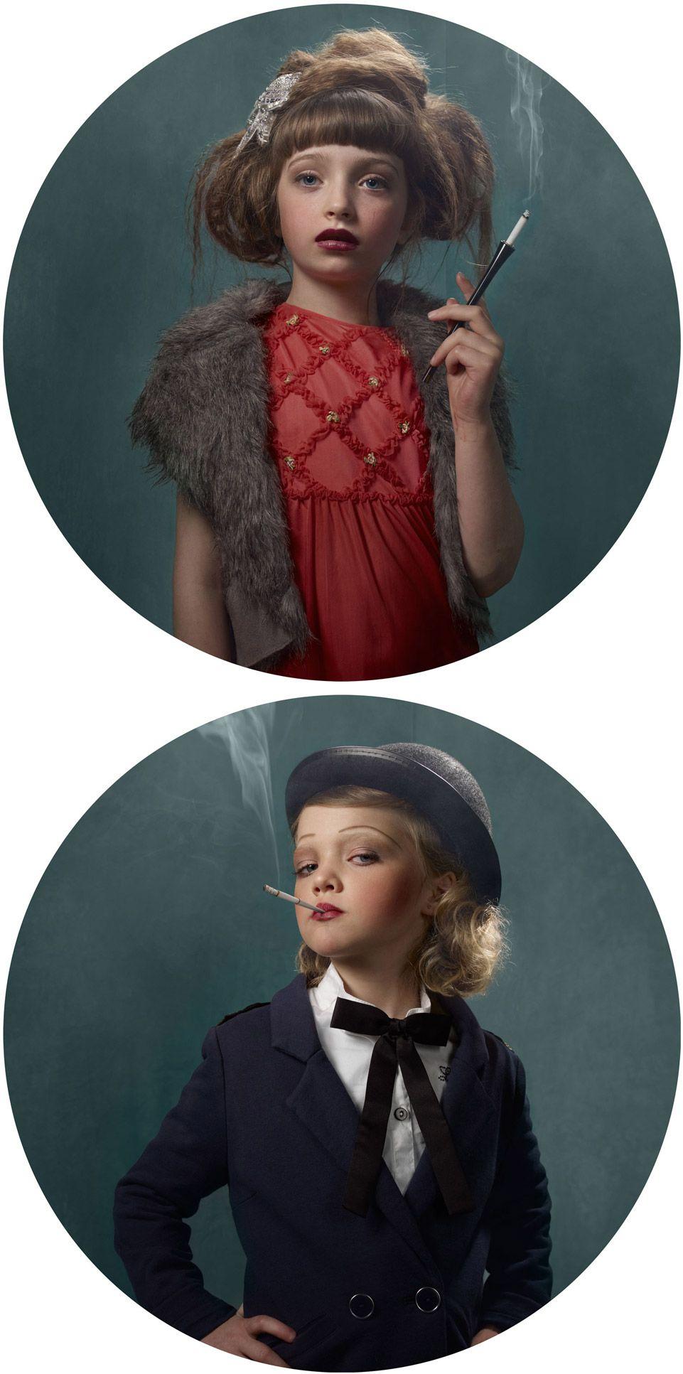 Crianças fumantes Jennifer jones, Photo series, Kids photos
