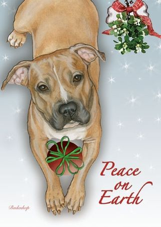 Image result for painted pitbull christmas cards | dogs ...